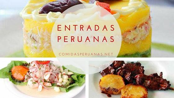recetas peruanas de entradas entrantes o primeros platos