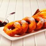 Receta de Picarones de quinua con miel de maracuya