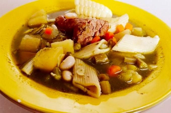 Receta de Sopa Menestron