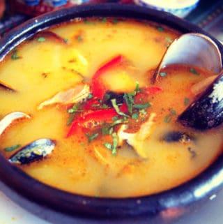 Receta de Sopa de Choros