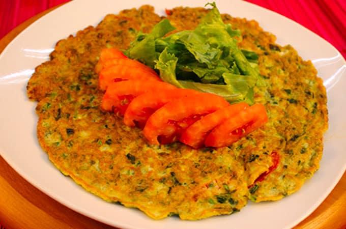 Receta Tortilla de verduras peruana