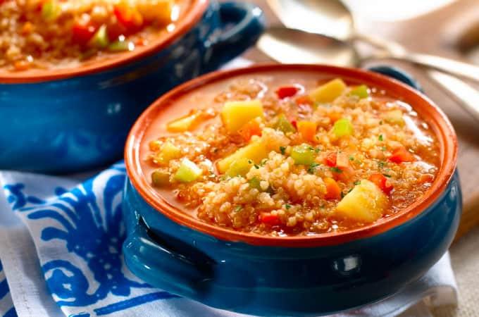 Receta de Sopa de Quinua