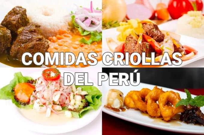 Receta de Comidas Criollas del Perú